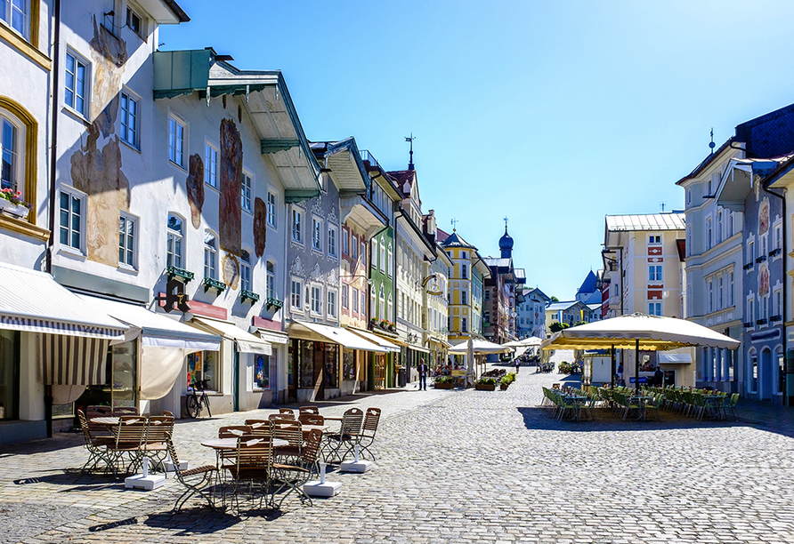 Hotel Kolbergarten in Bad Tölz in Bayern, Altstadt von Bad Tölz