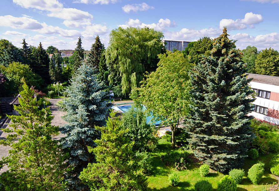 Solny Resort & Spa in Kolberg, Garten