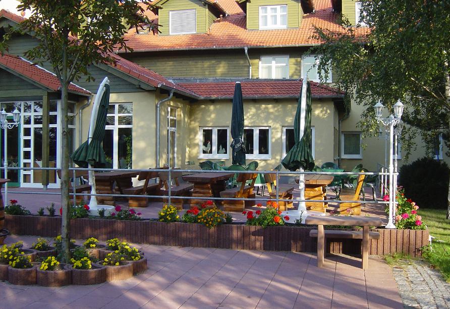 Waldhotel Roggosen in Neuhausen an der Spree Terrasse