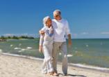 Pension Aneta, Gribow, Polnische Ostsee, Polen, Paar am Strand