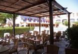 Hotel Monarque Fuengirola Park in Andalusien, Terrasse
