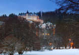 Chateau Monty SPA Resort in Marienbad in Tschechien, Winter