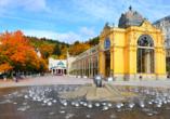 Chateau Monty SPA Resort in Marienbad in Tschechien, Kurkolonnaden