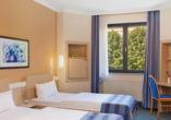 IntercityHotel Magdeburg, Doppelzimmer mit getrennten Betten