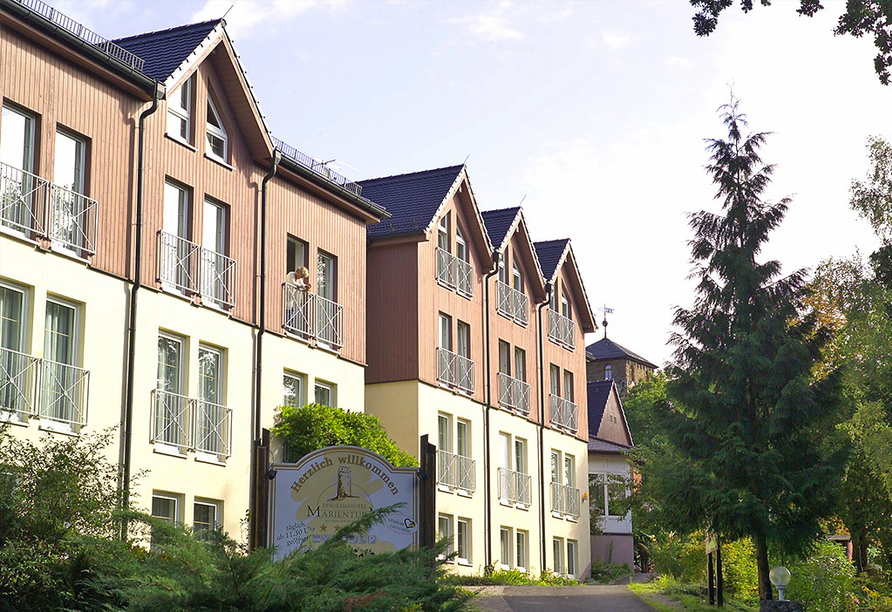Panoramahotel am Marienturm in Rudolstadt im Thüringer Wald, Aussenansicht