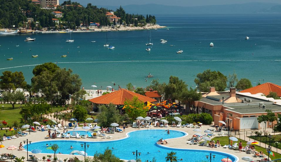 Hotel Hedera in Rabac in Kroatien, Ausblick