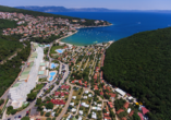 Hotel Hedera in Rabac in Kroatien, Bucht