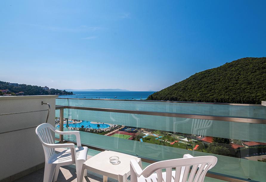 Hotel Hedera in Rabac in Kroatien, Zimmerbeispiel Aussicht