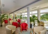 Hotel Hedera in Rabac in Kroatien, Lobby