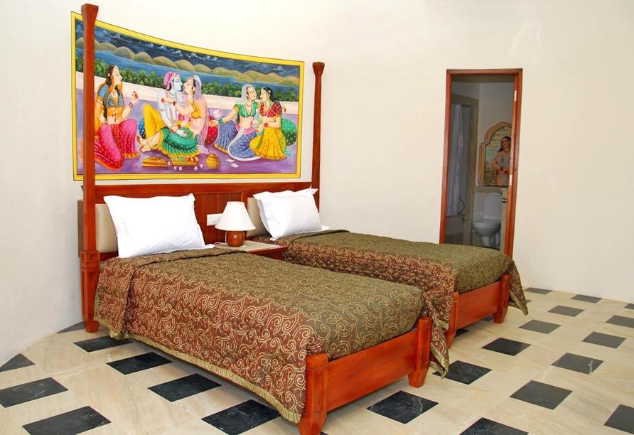 Erlebnisreise Indien, Zimmer Hotel Dessert N Dunes