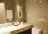 Hotel Vasco da Gama in Monte Gordo, Beispiel Badezimmer