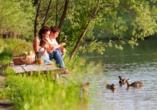 Alago Hotel am See in Cambs im Schweriner Seenland, Picknick am See