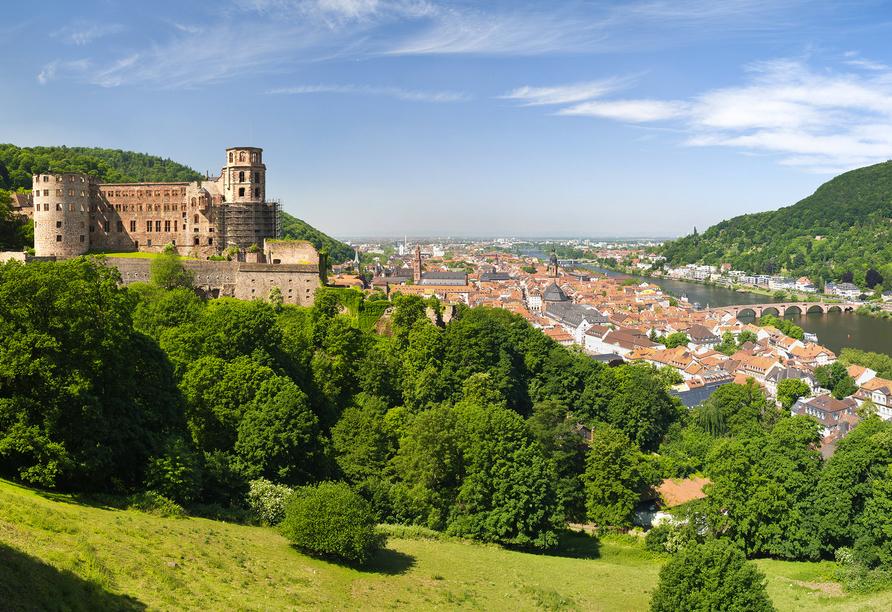 Hotel Zur Krone in Michelstadt im Odenwald, Ausflugsziel Heidelberg