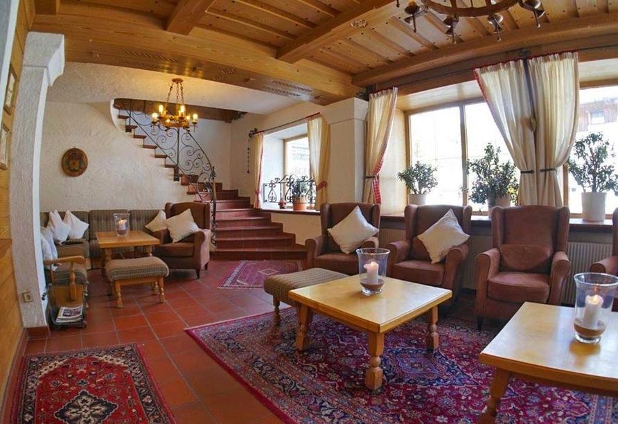 Gasthof Risserhof in Scharnitz Tirol Österreich, Lobby