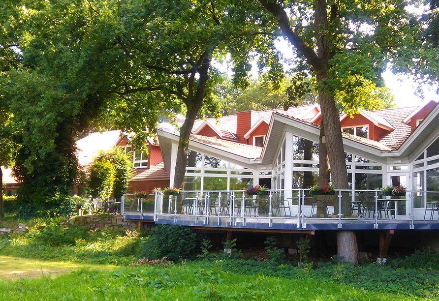 Hotel Saller See in Freren im Emsland Terrasse