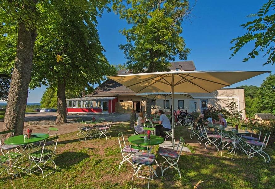 Aktive & Vital Hotel Thüringen in Schmalkalden Biergarten