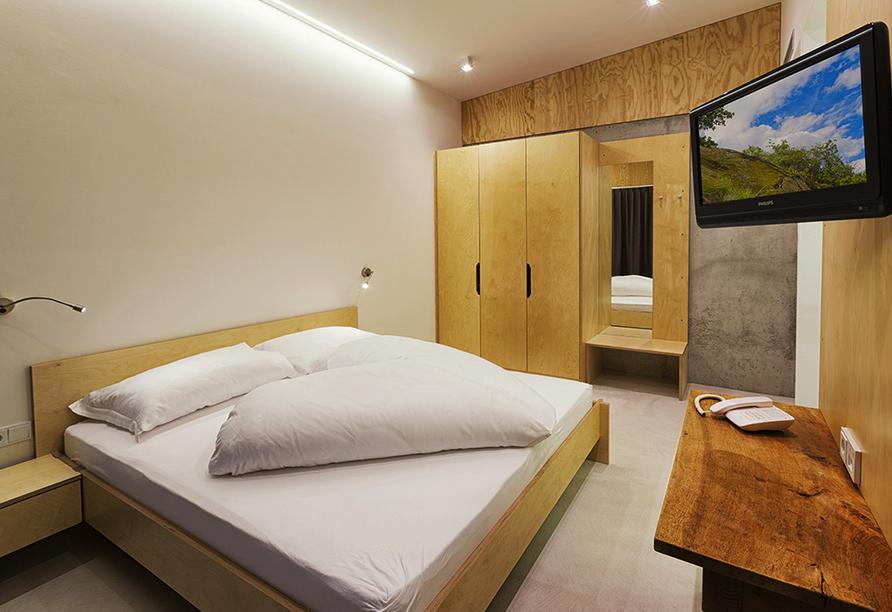 Kleinkunsthotel in Naturns, Südtirol, Italien, Zimmerbeispiel