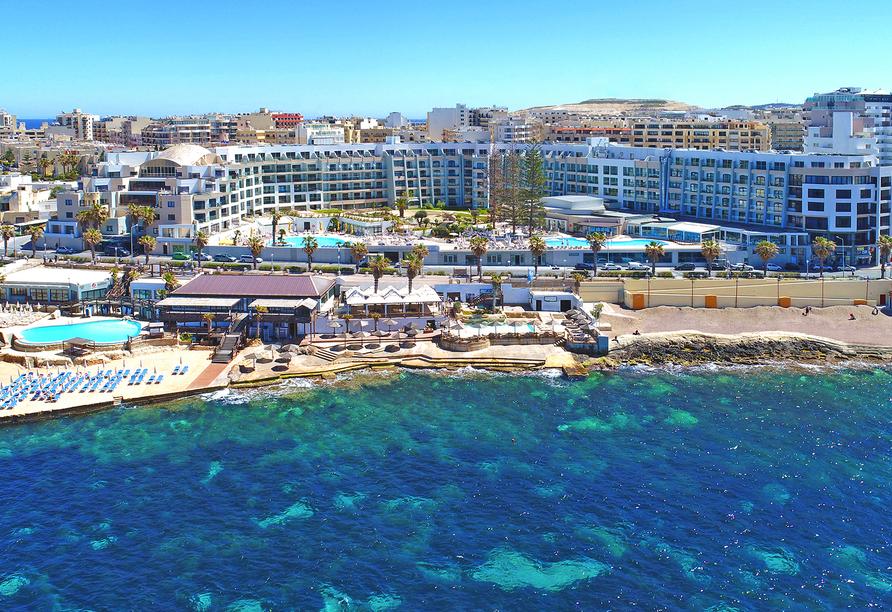 Ihr Hotel Dolmen Resort Malta befindet sich in traumhafter Lage.