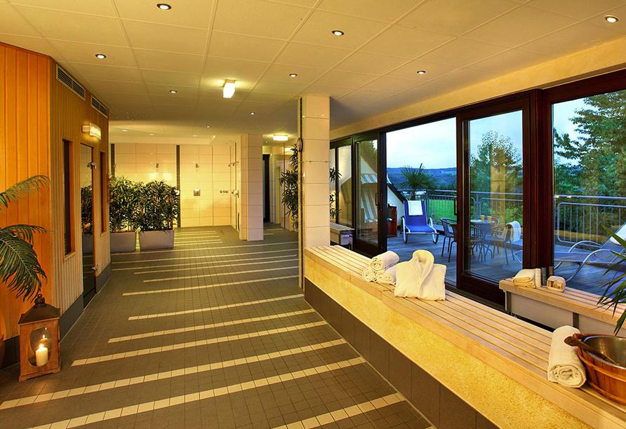 Trans World Hotel Kranichhöhe in Much, Saunalandschaft