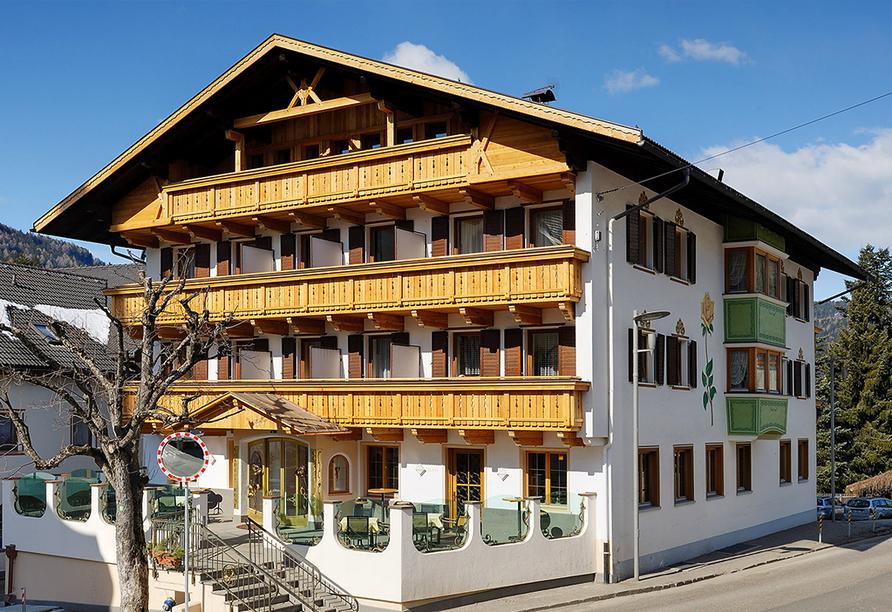 Hotel Goldene Rose in Welsberg, Außenansicht