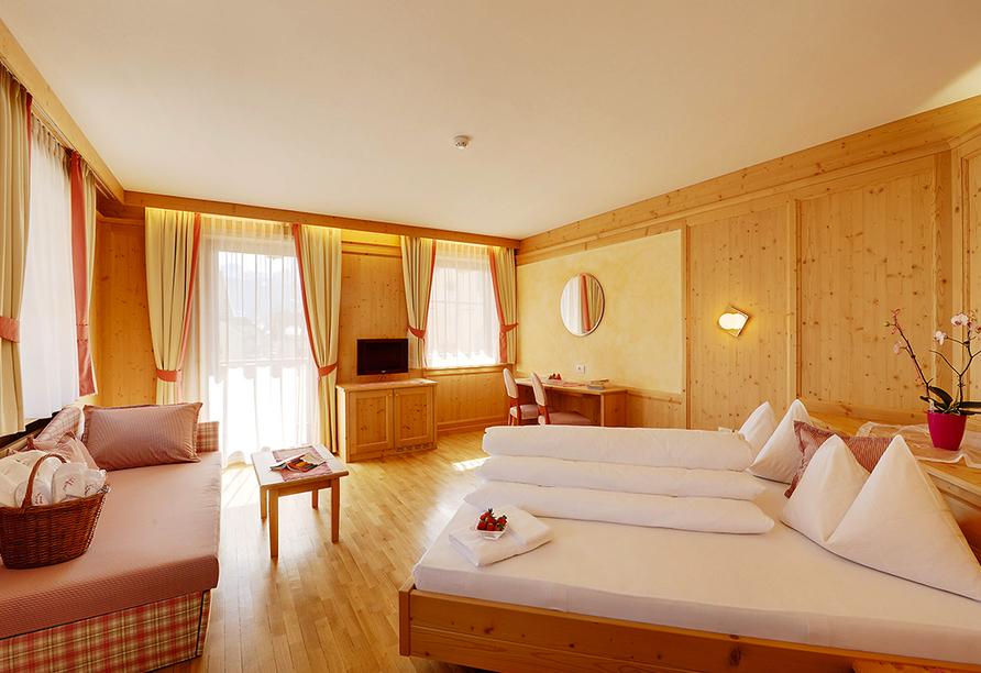 Hotel Goldene Rose in Welsberg, Beispieldoppelzimmer