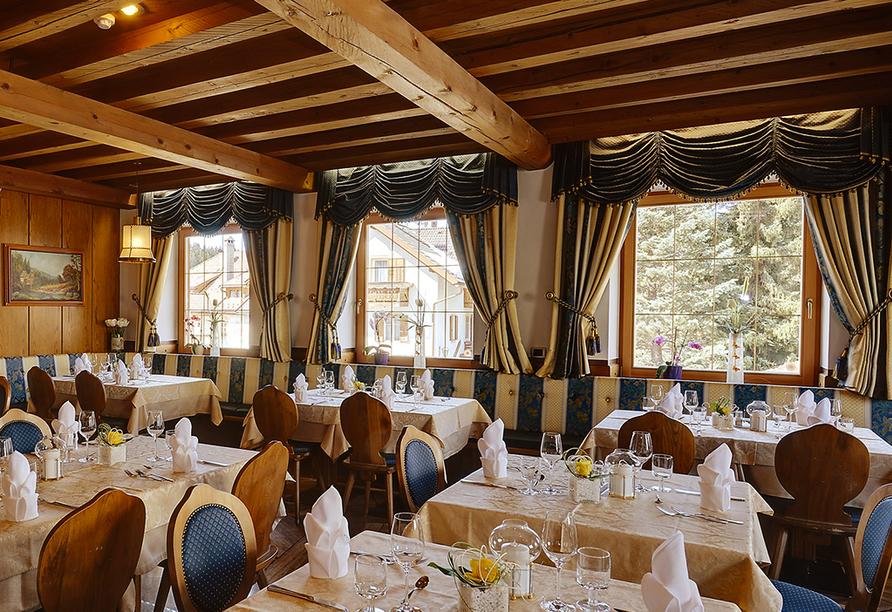 Hotel Goldene Rose in Welsberg, Restaurant