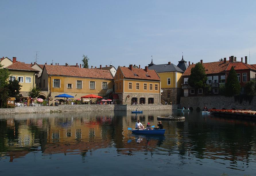 Hunguest Hotel Pelion in Tapolca, Bootsfahrt