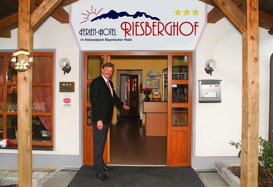 Ferienhotel Riesberghof in Lindberg, Empfang