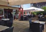 Parkhotel Schotten in Vogelsberg Hessen, Terrasse