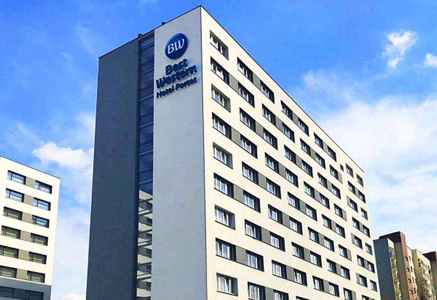 Polen Rundreise, Best Western Hotel Portos Außenansicht