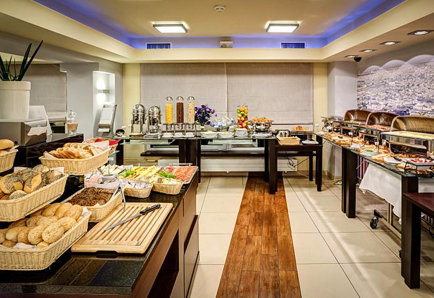 Polen Rundreise, Best Western Hotel Portos Frühstücksbuffet