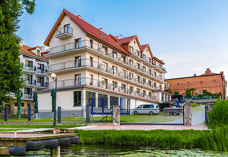 Polen Rundreise, Hotel Huszcza Außenansicht