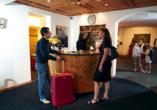 Hotel Meierhof Davos, Schweiz, Rezeption