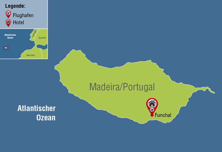 Luixuriöse Auszeit auf Madeira, Reisezielkarte