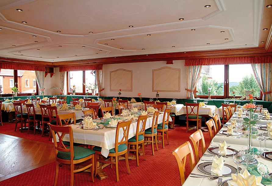 Hotel Zur Igelstadt in Lichtenfels-Fürstenberg im Hessischen Bergland Restaurant