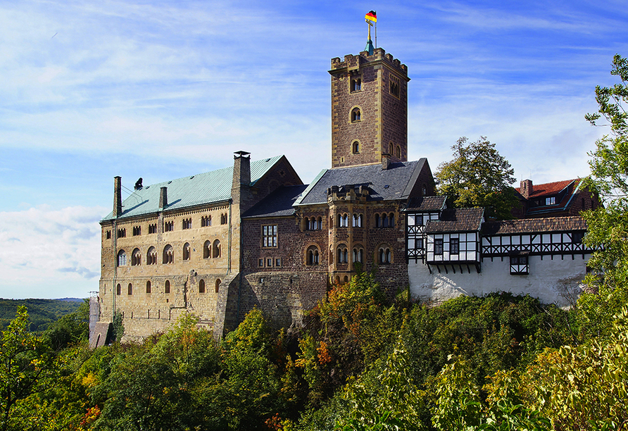 Hotel Rodebachmühle in Georgenthal im Thüringer Wald, Ausflugsziel Wartburg bei Eisenach
