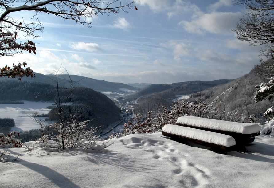 Hotel Klostermühle in Heimbach in der Eifel Winter