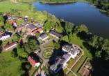 Schlosshotel Groß Plasten, Luftaufnahme