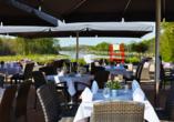 Hotel Acamed Resort Nienburg-Neugattersleben, Terrasse