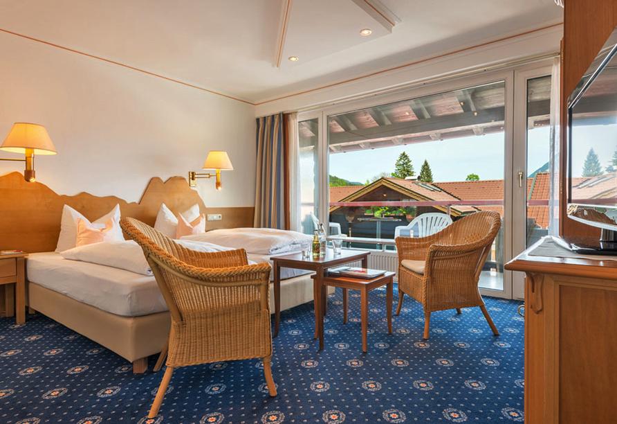 Hotel Rheinischer Hof Garmisch-Partenkirchen, Zimmerbeispiel