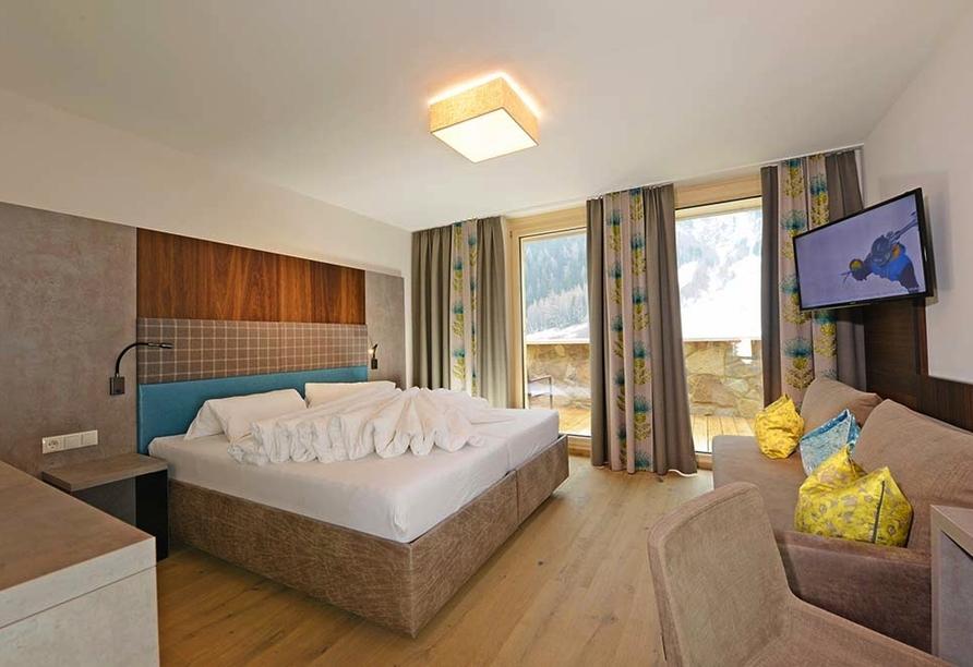 Hotel Nassereinerhof in St. Anton am Arlberg in Tirol Beispiel Doppelzimmer Superior