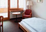 Hotel Strela in Davos Platz, Beispiel Einzelzimmer