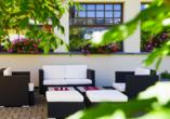Hotel Strela in Davos Platz, Gartenterrasse