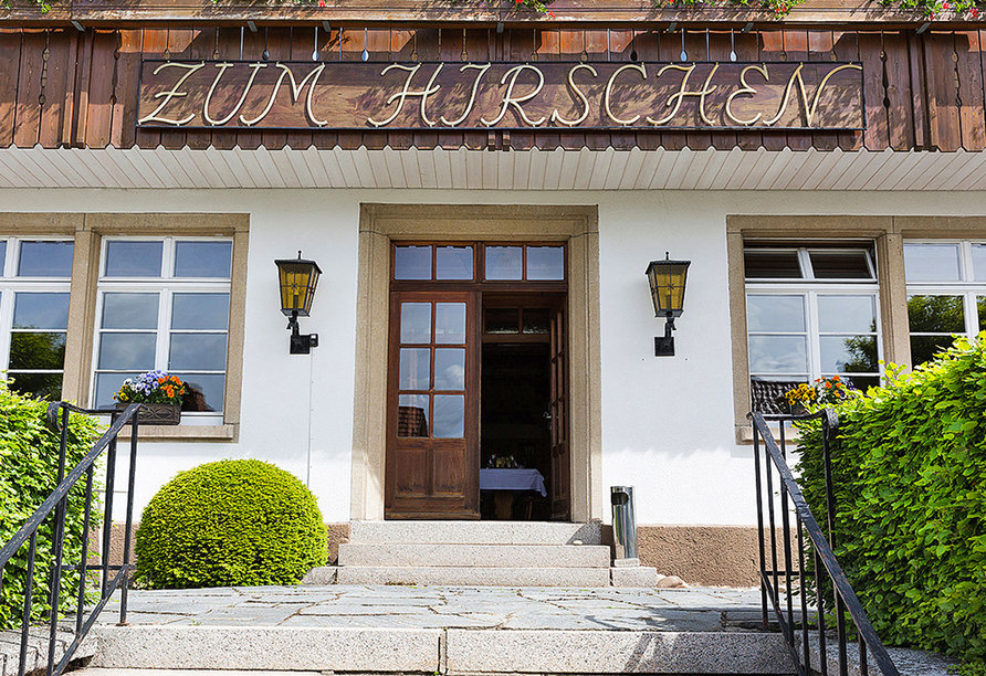 Hotel Der Hirschen in St. Märgen, Eingang