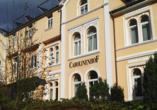 Hotel Carolinenhof in Bad Pyrmont, Außenansicht
