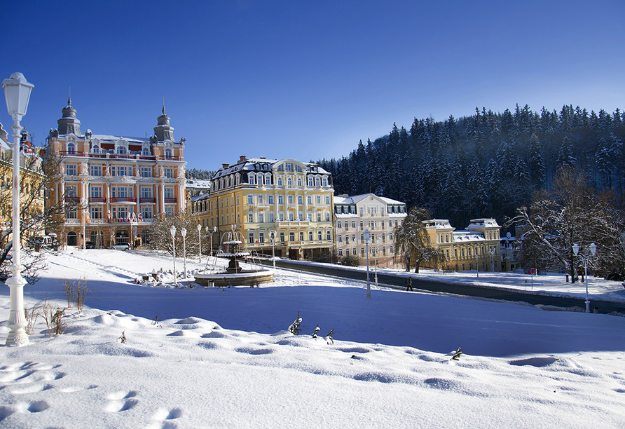 Hotel Krakonos in Marienbad, Weihnachtszeit