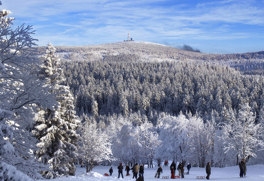 Parkhotel Weber-Müller in Bad Lauterberg, Harz im Winter