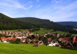 Höhenhotel Pfeifle in Baiersbronn im Schwarzwald, Luftaufnahme