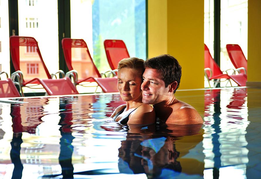 Hotel Elisabethpark in Bad Gastein im Salzburger Land, Thermalhallenbad