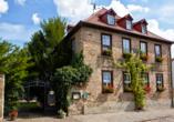 Hotel Lindenhof in Bad Lauchstädt, Außenansicht